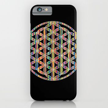 Flower of Life Colored | Kids Room | Delight iPhone & iPod Case by Azima