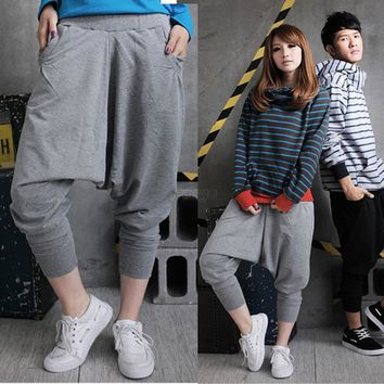 Casual Men Women Hip Hop Harem Pants Drop Crotch Sweatpants Trousers Slacks Factory Price