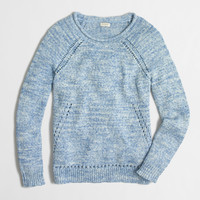 Factory beach sweater with pointelle details