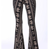 Ethnic Elephant Bell Bottom Pants