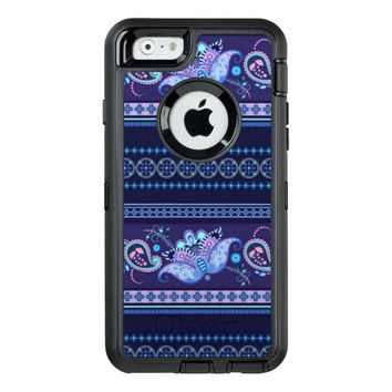 stylish blue floral pattern OtterBox iPhone 6/6s case