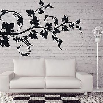 Wall Sticker Vinyl Decal Beautiful Twig Grape Leaves Loach Hops Unique Gift (n233)
