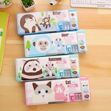 2017 New Arrival Multifunction Stationery Case Korea Fashion Cute Cartooon Pencil Case Kawaii Pencil cases Large Pencil box