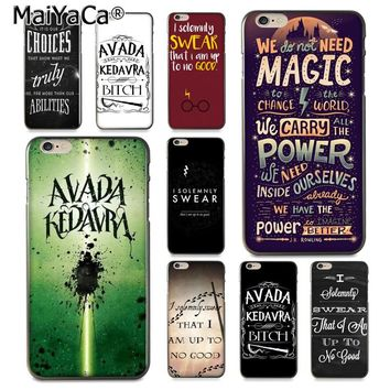 MaiYaCa Avada Kedavra Harry Potter Bitch I Solemnly Swear Phone Case Cover for iPhone 8 7 6 6S Plus X XS XR XSMax 5 5S SE Coque