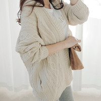 Beige loose fit oversize knit cardigan, sweater, knitted cardigan