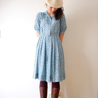 Baby blue spring dress, Japanese vintage, xs - small