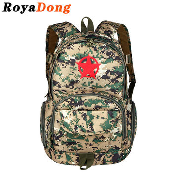 RoyaDong 2016 Backpack Men Camouflage Big Capacity Travel High Quality Oxford Bag For Teenagers