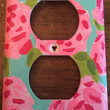 Hand Painted First Impressions Lilly Pulitzer Double Light Socket