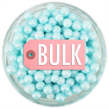 Pearly Pastel Blue Sugar Pearls BULK