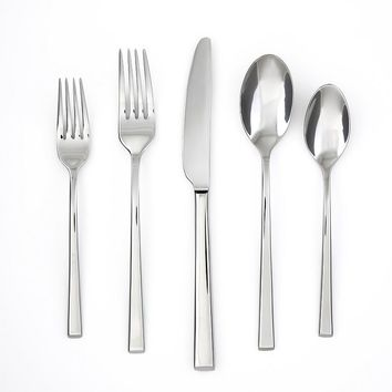 Food Network Chive Mirror 20-pc. Flatware Set