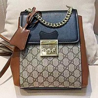 GUCCI Fashion New More Letter Leather Mini Shopping Leisure Backpack Bag Women