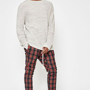 PacSun Drop Skinny Tartan Plaid Jogger Pants at PacSun.com