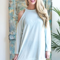 Fly Me To the Moon Brushed Knit Tunic