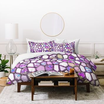Ingrid Padilla Violet Cells Duvet Cover