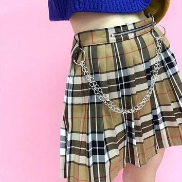 Saturn Plaid Skirt