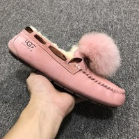 LFMON UGG 1019015 Moccasin Ommino TODS Women Men Fashion Casual Wool Winter Snow Boots Pink