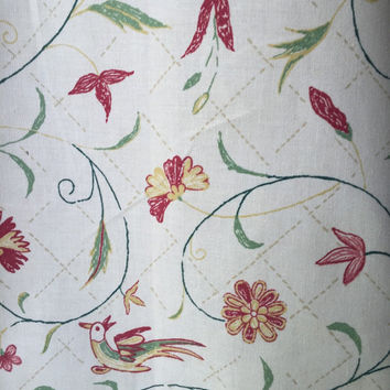 Vintage Fabric, Decorators Fabric, Greeff fabrics by Warner made in England, Cotton Fabric, Textiles