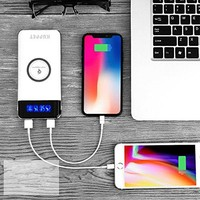 Wireless Charger Power Bank,KUPPET 20000mAh External Battery Charging Pack Portable Charger Battery Pack Portable Charger for iPhone X,iPhone 8,Samsung Galaxy S8 Note 8