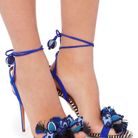 Aquazzura Tropicana Beaded Stiletto Sandals - INTERMIX®