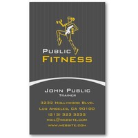 Aerobic Fitness Center Business Card from Zazzle.com