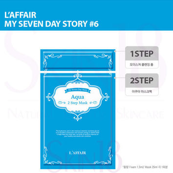 Laffair  [ My Seven Day Story ] #6 (Cyan) Aqua 2 Step Mask  *exp.date 09/18