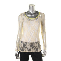 American Rag Womens Lace Unlined Pullover Top