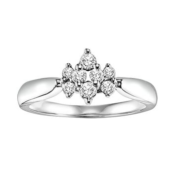 Cherish Always Round-Cut Diamond Engagement Ring in 10k White Gold (1/3 ct. T.W.)