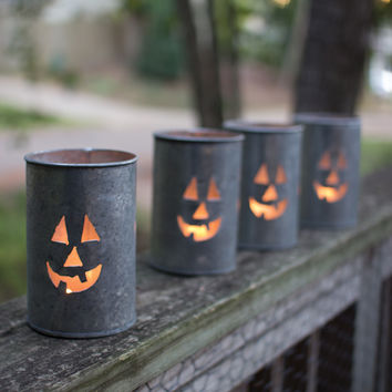 Tin Luminary- Jack-O-Lantern 2