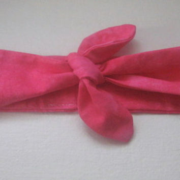 Hair Bandana, Hot Pink, Toddlers Hair Band, Sweet Headband, RockaBilly HairBand, Boho Hair Band, Hair Trend, Boho, Dolly Bow
