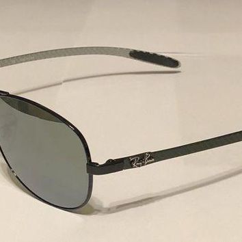 ESB2N Authentic Ray Ban Aviator Sunglasses Pilot Carbon Fiber RB 8301 002/40 56/14