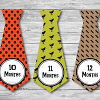 Punk Rock Baby Milestone Stickers and Iron On Ties