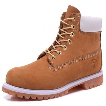 Timberland Rhubarb Boots 2018 White Yellow For Women Men Shoes Waterproof Martin Boots