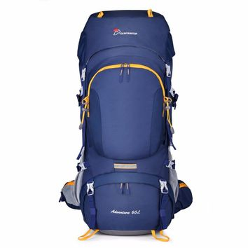 Mountaintop 60L Ripstop Outdoor Backpack with Rain Cover, Internal Frame Hiking Backpacking Packs for Climbing Travel Camping