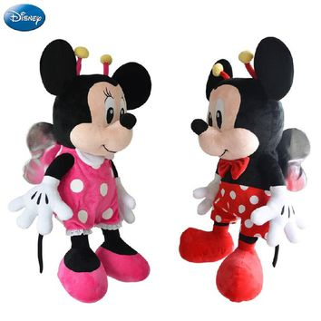 Genuine Disney Mickey Mouse Minnie Kawaii Plush Cotton Stuffed Animal Toys