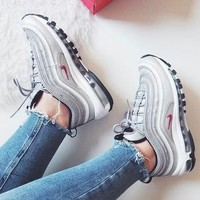 NIKE AIR MAX 97 Sport Shoes Women Men Sneakers Running Shoes-9