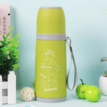 Family Friends party Board game 500ml stainless steel wine bottle shape thermos bottle water bottles bowling Double-Wall car kettle travel flask Vacuum Cup AT_41_3