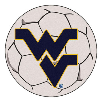 West Virginia Mountaineers NCAA Soccer Ball Round Floor Mat (29)