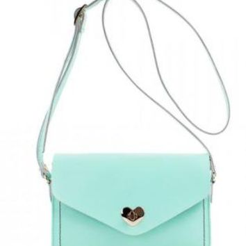 Heart-shaped Button Envelope Bag