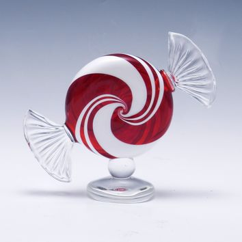 Peppermint Perfume Bottle by Garrett Keisling: Art Glass Perfume Bottle | Artful Home