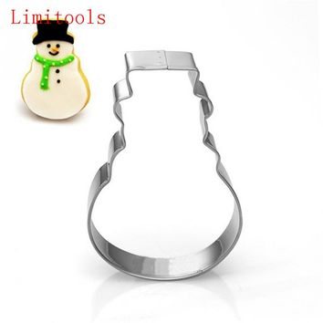 Christmas Cookie Cutter Tools stainless steel Snowman Men Shaped Utensils Patisserie Mold Kitchen Decorating Tools