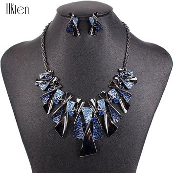 MS17316 Hot Sale Brand Jewelry Sets Classic Design Bridal Jewelry Woman's Necklace Set High Quality 5 Colors Party Gifts