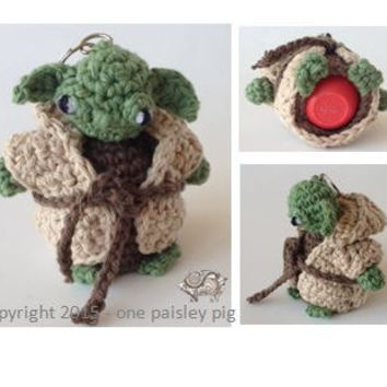 Yoda Inspired eos Lip Balm Holder - PDF CROCHET PATTERN