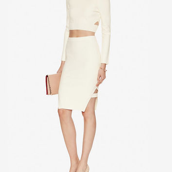 Jonathan Simkhai Cut Out Hem Knit Pencil Skirt | Shop IntermixOnline.com