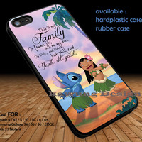 Lilo and Stitch Best Friends Quote DOP1311 iPhone 6s 6 6s+ 5c 5s Cases Samsung Galaxy s5 s6 Edge+ NOTE 5 4 3 #quote