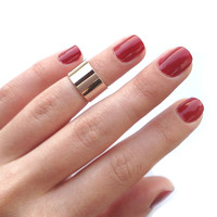 Rose Gold Cuff Knuckle Ring
