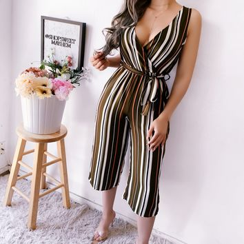 PAIGE STRIPED CROPPED JUMPSUIT (OLIVE)