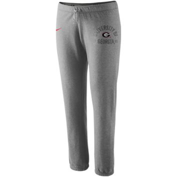 Nike Georgia Bulldogs Ladies Rally Fleece Pants - Ash