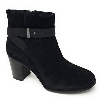 Clarks Enfield Sari Black Suede Leather Boots