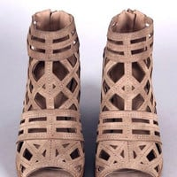 Stone Cut Out Bootie