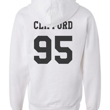 Clifford 95 Michael Clifford 5sos Black ink on back Unisex Pullover Hoodie S to 3XL